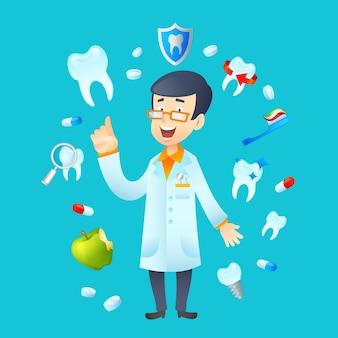 Ilustración de concepto de odontología