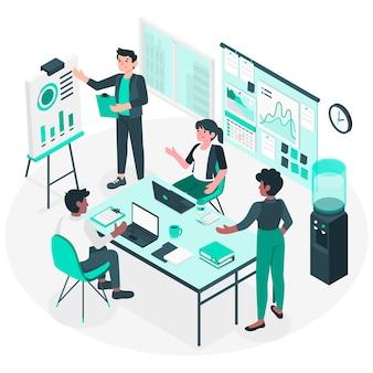 Ilustración del concepto de en la oficina