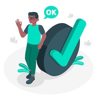 Ilustración del concepto de ok