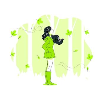 Ilustración de concepto otoño