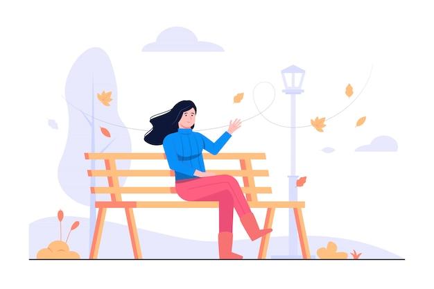 Ilustración del concepto de otoño