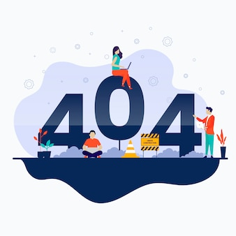 Ilustración de concepto de página de error 404 no encontrada