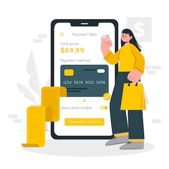 Ilustración del concepto de pagos móviles
