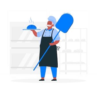 Ilustración del concepto de panadero