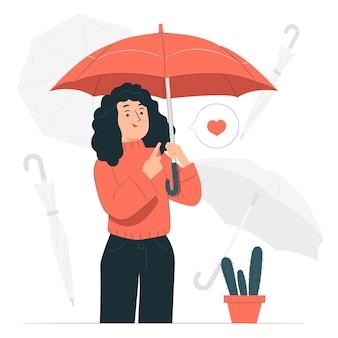 Ilustración del concepto de paraguas