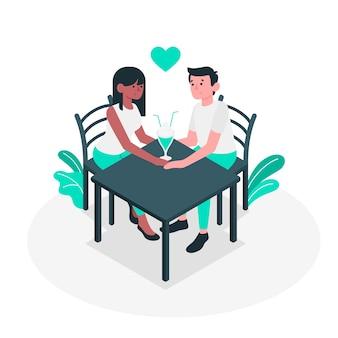 Ilustración del concepto de pareja