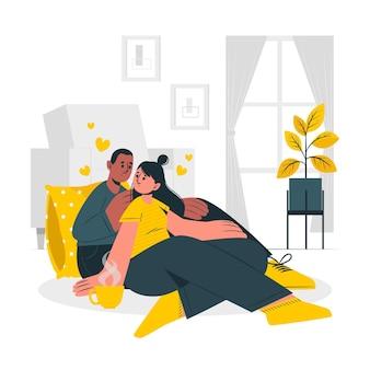Ilustración del concepto de pareja vector gratuito