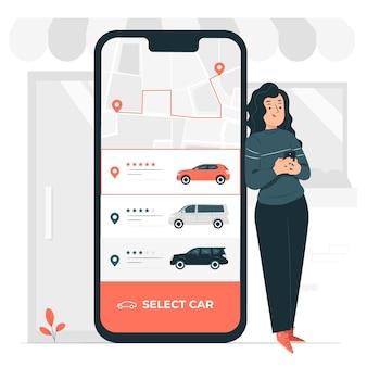Ilustración de concepto de paseo de pedido