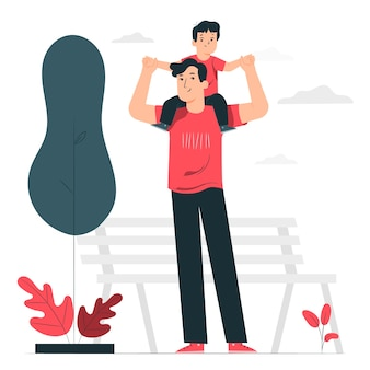 Ilustración del concepto de paternidad