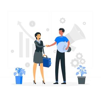 Ilustración del concepto de patrocinador