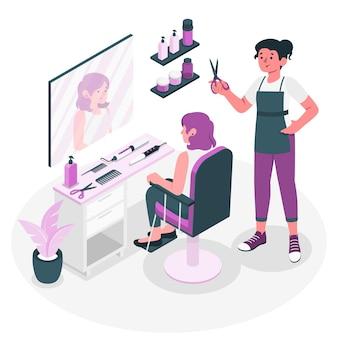 Ilustración de concepto de peluquería