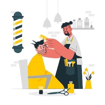 Ilustración del concepto de peluquero