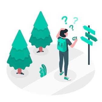 Ilustración del concepto de perdido