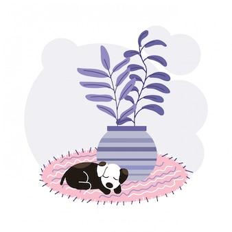 Ilustración de concepto de perro durmiendo