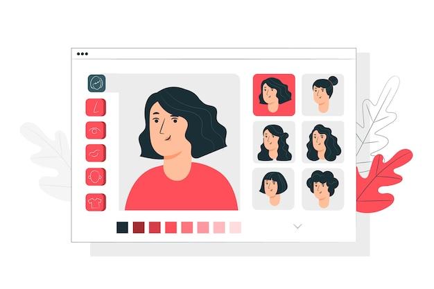 Ilustración del concepto de personalización