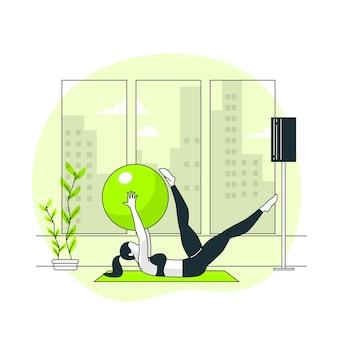 Ilustración del concepto de pilates