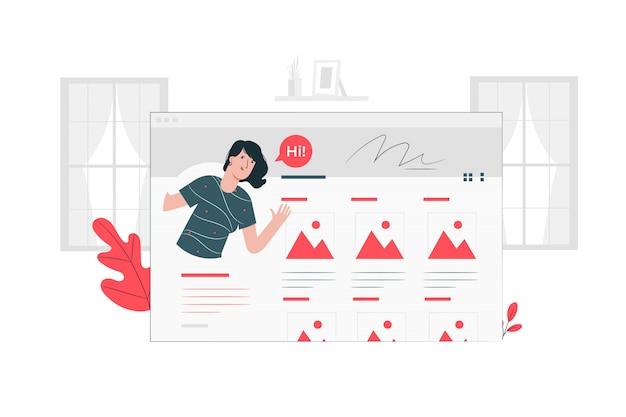 Ilustración del concepto de portfolio