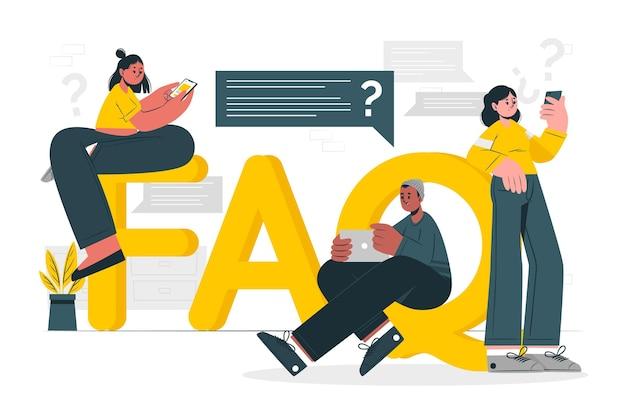 Ilustración del concepto de preguntas frecuentes