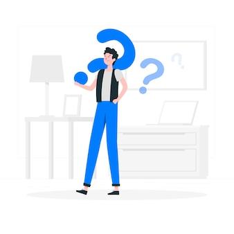 Ilustración del concepto de preguntas