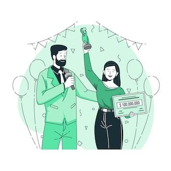 Ilustración del concepto de premios