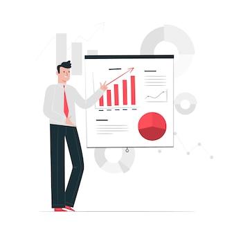 Ilustración del concepto de presentación