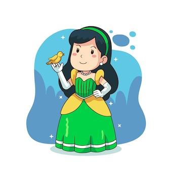 Ilustración con el concepto de princesa cenicienta
