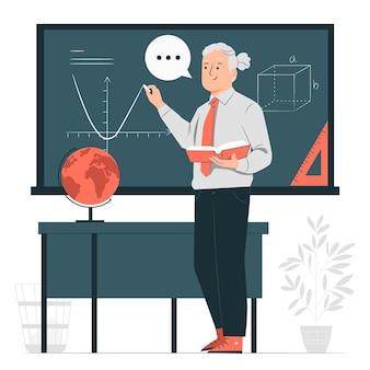Ilustración del concepto de profesor