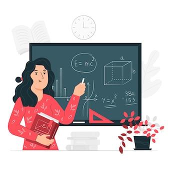 Ilustración del concepto de profesora