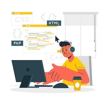 Ilustración del concepto de programador