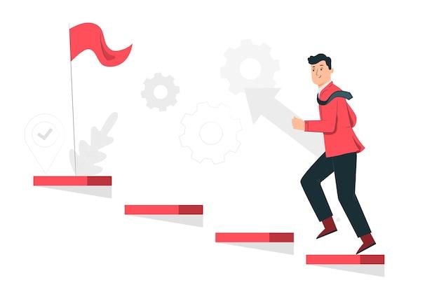 Ilustración del concepto de en progreso