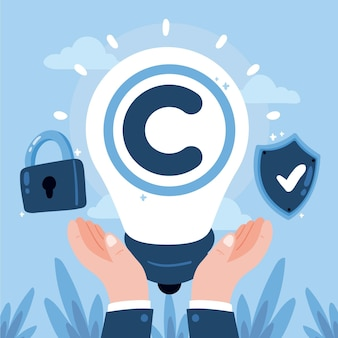Ilustración del concepto de propiedad intelectual