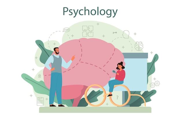 Ilustración del concepto de psicología Vector Premium