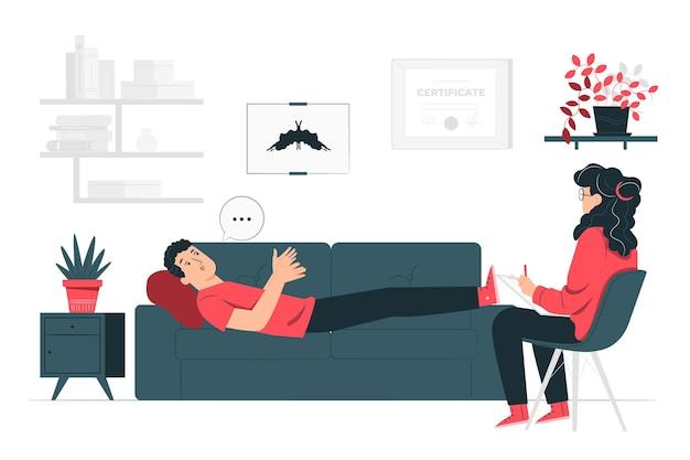 Ilustración del concepto de psicologo