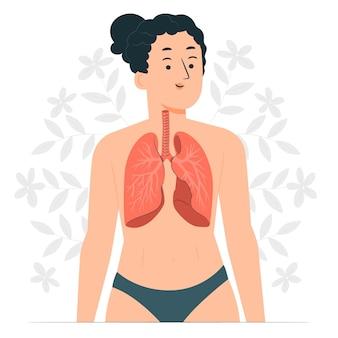 Ilustración del concepto de pulmones