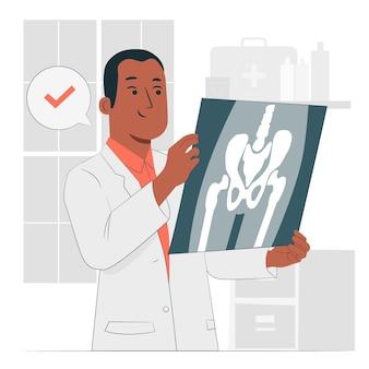Ilustración del concepto de radiografía