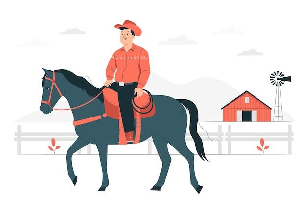 Ilustración del concepto de ranchero