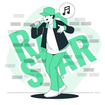 Ilustración del concepto de rapero
