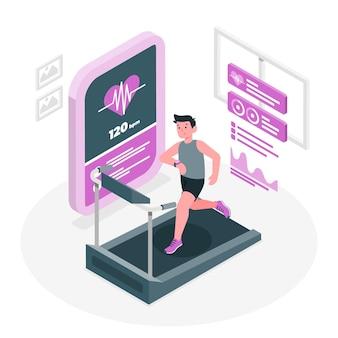 Ilustración de concepto de rastreador de fitness