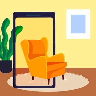 Ilustración del concepto de realidad aumentada