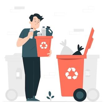 Ilustración del concepto de reciclaje