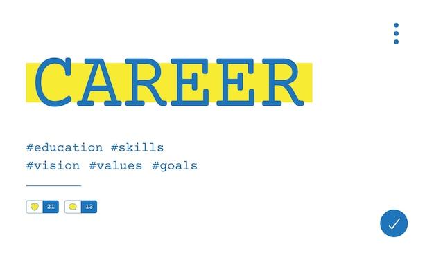 Ilustración del concepto de reclutamiento de carrera