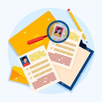 Ilustración del concepto de reclutamiento