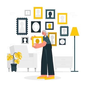 Ilustración del concepto de recolección
