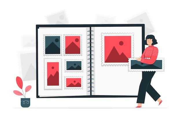 Ilustración de concepto de recopilación