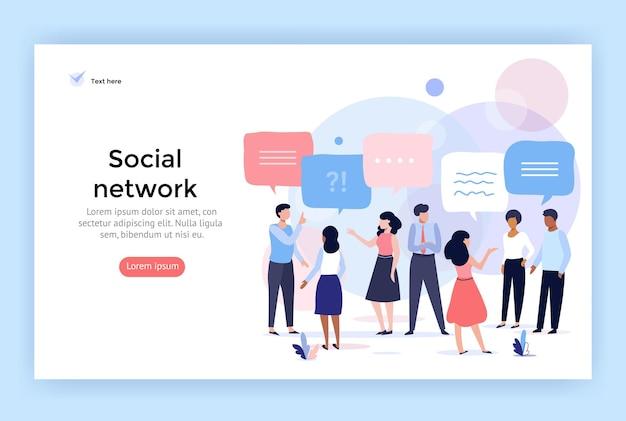Ilustración del concepto de red social