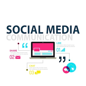 Ilustración del concepto de redes sociales.