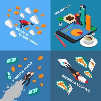 Ilustración del concepto de refuerzo empresarial