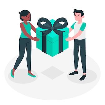 Ilustración de concepto de regalo