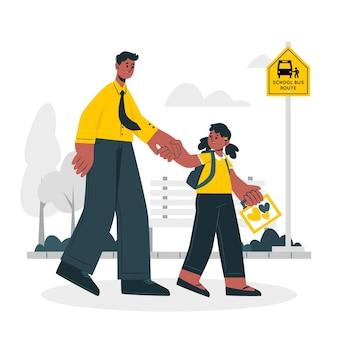Ilustración del concepto de regreso a la escuela