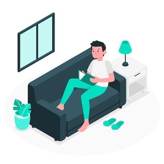 Ilustración de concepto de relajarse